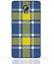 Lenovo Vibe P1 TPU Silicone Case with Blue and Yellow Plaid Fabric Design