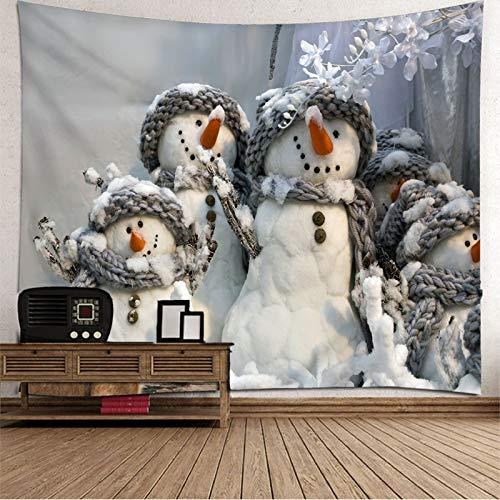 Rubyia Tapiz Navidad Pared, Muñecos de Nieve con Flores de Bufanda Mantas para Pared Decoración para Hogar Habitacion Salón, 240x220cm