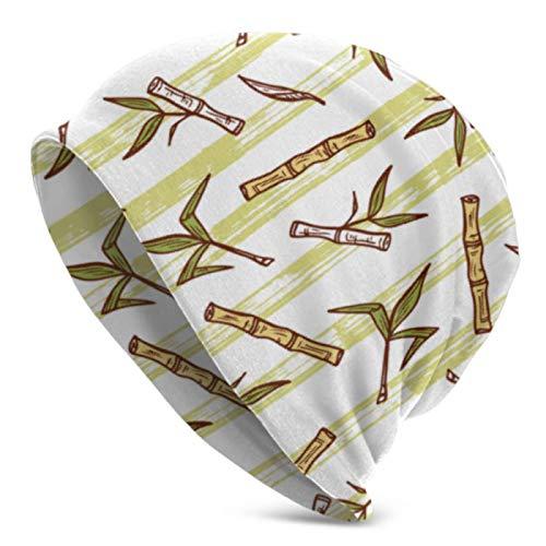Tommy Warren Beanie Hüte für Männer Frauen Bambus Zuckerrohr Pflanzen Beanie Cap Stretchy Soft Beanie Cap