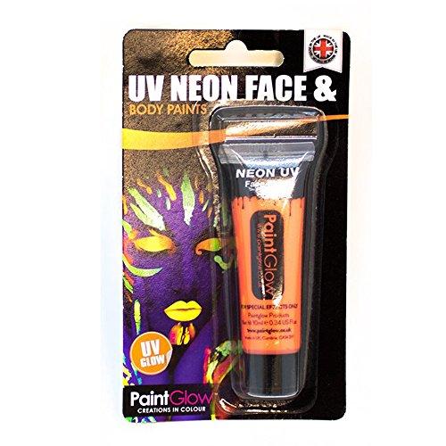 Smiffys - SM46001 - Peinture Blister UV Corps et Visage 10 ml Orange - Taille Unique