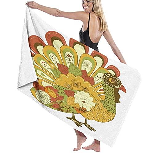 Toalla de baño de playa, lindas verduras, microfibra, de secado rápido, extra grande, ligera, supersuave, para viajes, natación, piscina, camping, fitness, deportes, yoga, vacaciones, 132 x 81 cm