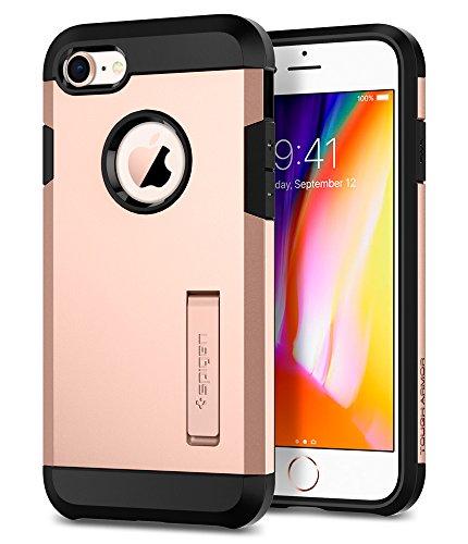 Funda iPhone 8/7, Spigen [Tough Armor 2ª generación] Extrema protección y Tecnología de cojín de aire con Kickstand para iPhone 8 (2017) y iPhone 7 (2017) [Blush Gold]