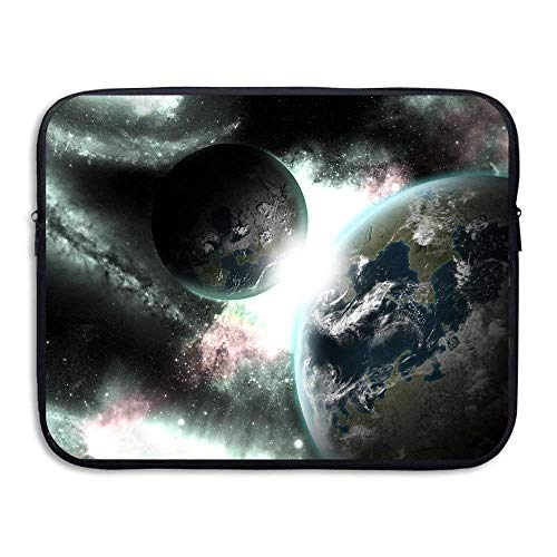 Laptop Case Planets Space Laptop Sleeve Protective Case Water-Resistant Neoprene Briefcase 15 Inch