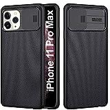 AROYI Funda iPhone 11 Pro MAX, [Protección de la cámara] con Tapa Deslizante para la cámara, Estuche Protector Delgado y Silicona Case [Anti-Rasguño] para iPhone 11 Pro MAX - Negro
