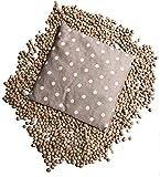 Cuscino Termico Con Noccioli Di Ciliegia, 25 x 25 cm, 600 grammi, Noccioli 100% italiani. Effetto Caldo e Freddo Per Cervicale, Mal Di Testa, Etc. IN OMAGGIO BUSTINA DI LAVANDA.