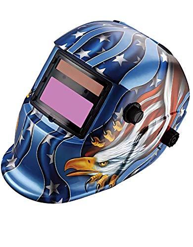 Gutstark Careta para Soldar Fotosensible Electrónica Auto Oscurecimiento Uso Industrial Original Retro Protección Casco para Soldar Soldadura Mascara para Soldar Diseño Aguila Azul