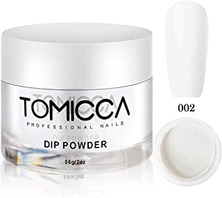 Tomicca Nail Dipping Powder, Clear, 2 oz, 56g, Long Lasting, As Base Before Apply Color Powders Natural Dry (002)