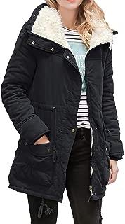 Winter Thick Warm Hooded Coat for Women,Long Slim Fit Drawstring Pockets Solid Outwear Parka Overcoat Daorokanduhp