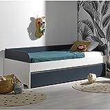 Alfred & Cie – Pack cama nido + 2 colchones Magnus blanco y azul