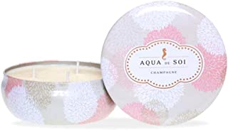 Aqua De Soi Natural Triple Wick Soy Candle, Champagne Lily, 630g
