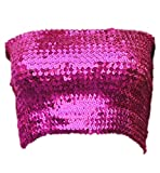 Alivila.Y Fashion Sparkling Sequins Stretch Party Tube Top A11-Hot Pink