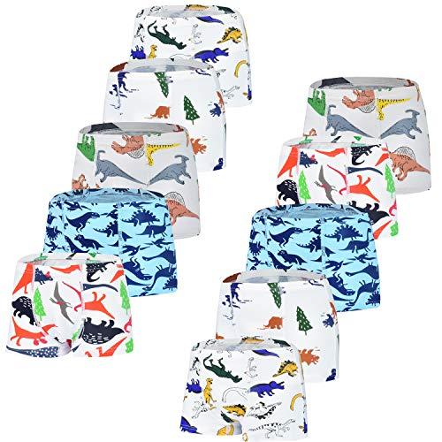 JackLoveBriefs Kinder Unterhose Jungen 10er-Pack Farbe: Weiß Größe:M