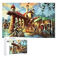 木製パズル1000ピースアリエルの冒険 ジグソー子供のための大人のパズルゲームカジュアルなインタラクティブゲーム商品のサイズ(75cmX50cm)