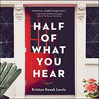 Half of What You Hear     A Novel              Written by:                                                                                                                                 Kristyn Kusek Lewis                               Narrated by:                                                                                                                                 Candace Thaxton                      Length: 10 hrs and 29 mins     Not rated yet     Overall 0.0