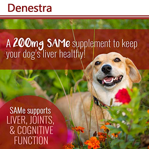 Pet Health Solutions Denestra Same Dogs Cats - Support Liver, Joints, Cognitive Function - Detoxication Cleansing Liver - Antioxidants - 200 Mg - 60 Tablets