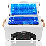 High Temperature Sanitizer Machine Cleaning Box, 2L Tools Sterilizer Cabinet Multi-Functional Hot Towel Warmer with Stainless Tray, Medical Dry Heat Autoclave Salon Equipment for Nail Metal Tools 300W