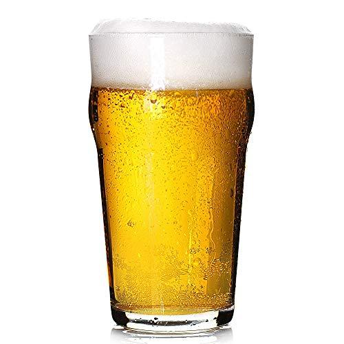 Pint Glasses,20 OZ British Beer Glass,Classics Craft Beer Glasses,Premium Beer Drinking Glasses Tumbler Set of 4, Pub Beer Glasses,Unique Design Beer Drinking Glasses Easy Stacking in The Cupboard