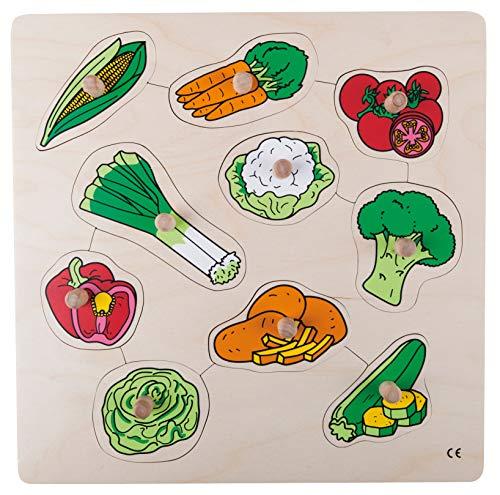 Educo, Puzzle de botón, diseño de verduras