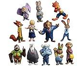 New Gift Idea Disney Zootopia Officer Judy Hopps Nick Bogo Action Figure Kids Toys Gift 12 PCS