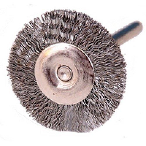 Rotation Brosse – Acier 24 mm de diamètre, avec tige 3 mm 60750