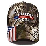 Besti Donald Trump 2020 Keep America Great Cap Adjustable Baseball Hat with USA Flag - Breathable Eyelets (Camo 002)