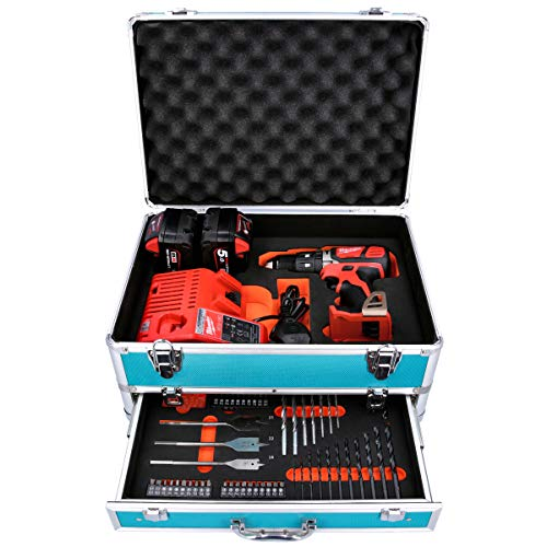 Milwaukee M18BPD 18V Combi Drill with 2 x 5Ah Batteries, Charger & 70 Piece Accessory Set