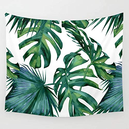 Hojas Tropical Jungle Tapiz de pared verde Tapices para colgar en la pared Colcha Arte de la pared Cortina Manta Ropa de cama Tiro 150x200cm