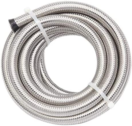 Translated Aveland Recommended Auto 8AN 16-Foot Universal Braided Fuel Steel Stainless