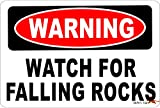 Warning Watch for Falling Rocks Aluminum 8 x 12 Metal Novelty Vintage Reproduction Danger Sign
