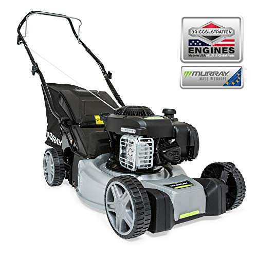 Murray EQ200 Cortacésped Manual de Gasolina de Empuje de 16'/41 cm con Motor Briggs & Stratton 300E Series, Gris