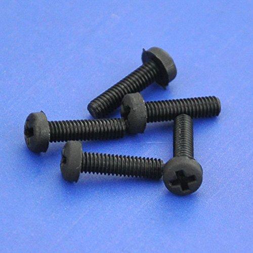 Electronics-Salon 100pcs vis M2,5 x 10 mm Phillips pan-header en nylon noir.