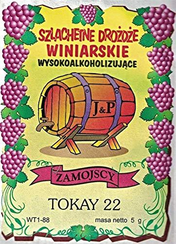 Hugbert Weinhefe, Tokay 22 für Weißweine, 100% natürlisches Produkt, Hefe, 1 Stück