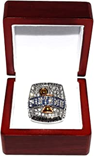 DETROIT PISTONS (Chauncey Billups) 2004 NBA FINAL WORLD CHAMPIONS (Going to Work. The Right Way) Rare & Collectible Replica National Basketball Silver Championship Ring with Cherrywood Display Box