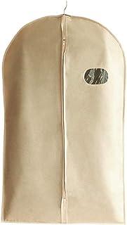 Vonty 5pcs Garment Bags Beige Garment Cover Bag for Clothes Storage Suit Garment Bags for Women & Men, Zippered Dust-Proof Cover (24x40 inch)