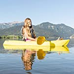Lifetime 6 Foot Yellow Youth Kayak 14 Ergonomic cockpit design enhances balance and motor skills Molded finger handles on each side of the kayak Reverse chine for enhanced stability with swim-up step