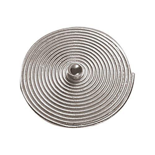 Chic-Net Silberringe Perle 28mm Spirale flach rund 925er Sterling Silber Ringe verstellbar unisex matt glänzend groß massiv breit Finger Schmuck Fingerringe Damen Herren offen free Size