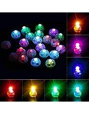 Richaa 100 STKS Ronde LED Ballon Lights, Kleurrijke Knipperende Papier Lantaarns Lichten voor Thuis Bruiloft Verjaardag Halloween Kerst Party Decoratie Cake Decor