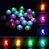 Richaa 100 stücke runde LED Ballons Lichter, Mini Bunte blinkende Papierlaternen-Lichter für Haupthochzeits-Geburtstags-Halloween-Weihnachtsfest-Dekorations-Kuchendekor