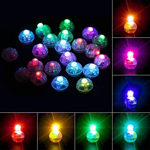 Richaa 100 Pezzi LED Rotondo Mini Lampada a Palloncino, Colorate Lanterne di Carta Lampeggianti luci per la casa Matrimonio Compleanno Halloween Festa di Natale Decorazione Decorazione della Torta