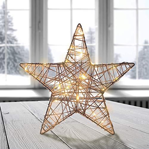 DecoKing 40er LED Stern LED Lampe warmweiß Strombetrieb dekoratives Licht Deko Star Premium