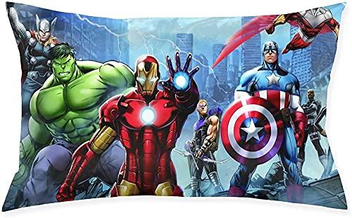 GD-SJK Amacigana Marvel Spiderman The Avengers Housse de coussin 3D Anime Home Arts 50 x 75 cm Custom Boy pour canapé chambre à coucher (The Avengers)