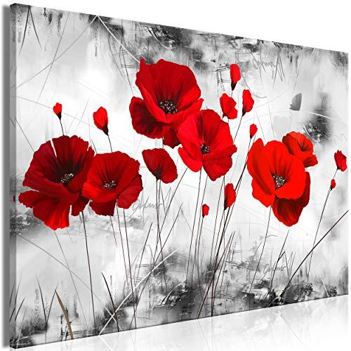 decomonkey | Mega XXXL Bilder Mohnblumen | Wandbild Leinwand 170x85 cm Selbstmontage DIY Einteiliger XXL Kunstdruck zum aufhängen | Blumen Natur