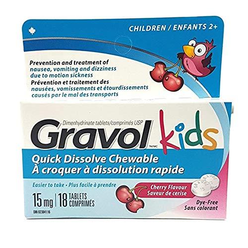 GRAVOL Children's 18 Quick Dissolve CHERRY Chewable Tablets