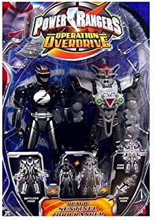 Power Rangers Operation Overdrive 5-Inch Mach Morphin Power Ranger Action Figure- Sentinel Zord Black Ranger