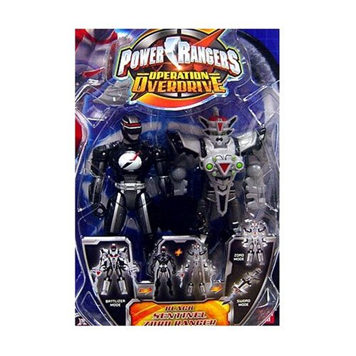 BANDAI Power Rangers Operation Overdrive 5-Inch Mach Morphin Power Ranger Action Figure- Sentinel Zord Black Ranger by