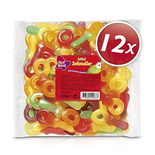 Red Band Fruchtgummi Schnuller 500 g Beutel – 12er Pack | Fruchtgummi