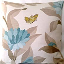 Floral Decorative Throw Pillow Case Blue Flowers Cushion Cover Osborne and Little Fabric Pattern Bernhardt