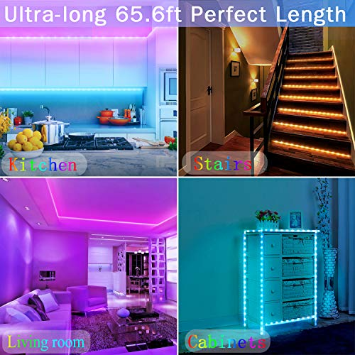 ZATAYE 65.6 Feet Led Strip Lights for Bedroom 6