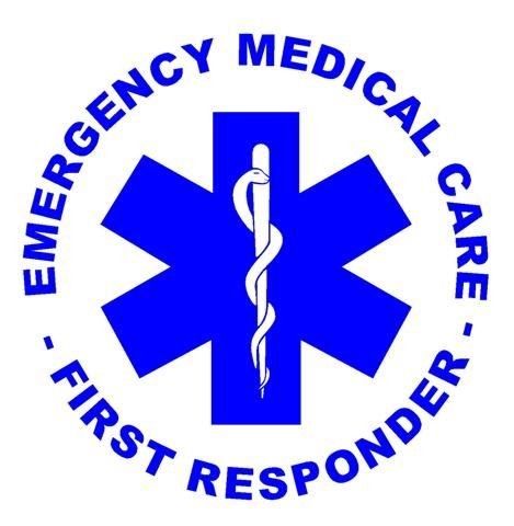 First Responder Decal Sticker - Peel and Stick Sticker Graphic - - Auto, Wall, Laptop, Cell, Truck Sticker for Windows, Cars, Trucks
