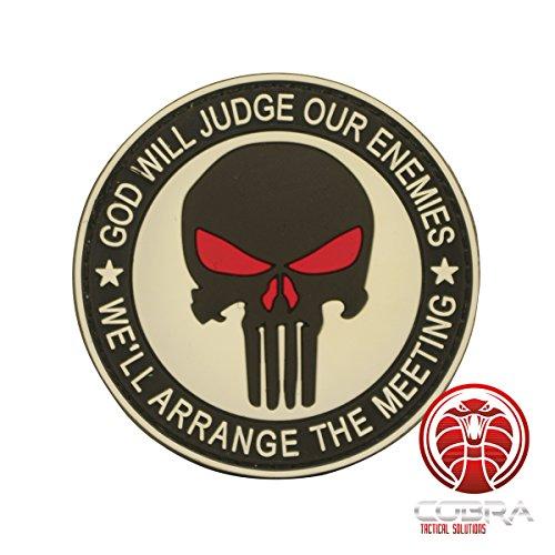 Cobra Tactical Solutions SWAT Special Police Unit Ricamata Toppa Militari Morale Tattici Applique Emblema Patch Gancio e Anello per Airsoft Paintball Cosplay per Abbigliamento tattico Zaino